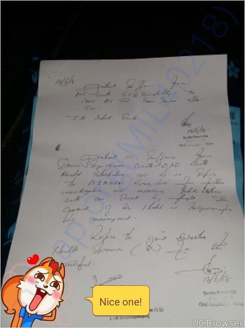 Medical documents of Damanbha Marwein