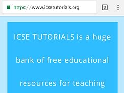 Free materials for 9 and 10 ICSE students