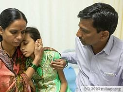 13-yer-old Deepti has an inflammatory disease that makes her starve