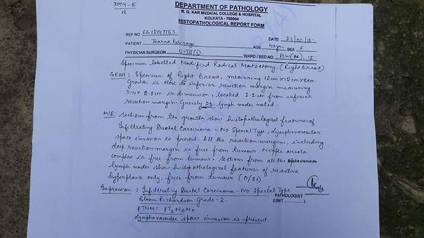 Histopathological Report Form