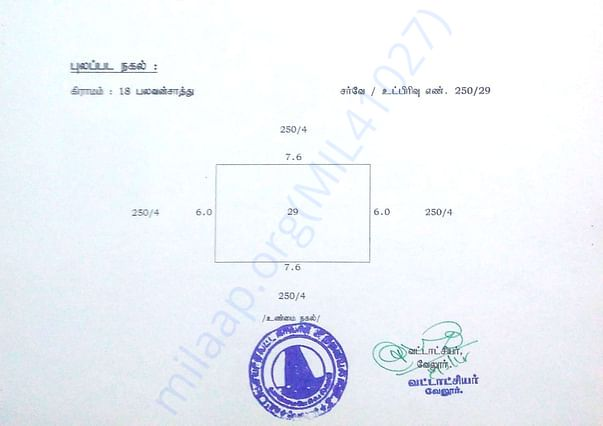 Land Details Allotted by Government- 2nd Page