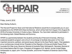 Help Akshay make a difference at Harvard organised HPAIR