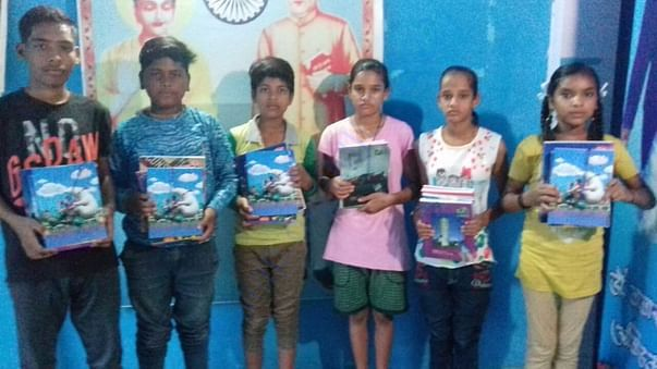 Registers and Copies Distribution to Gandhi Nagar Children's Bhopal