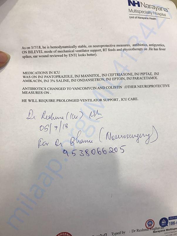 Ajith's medical summary-Page 2
