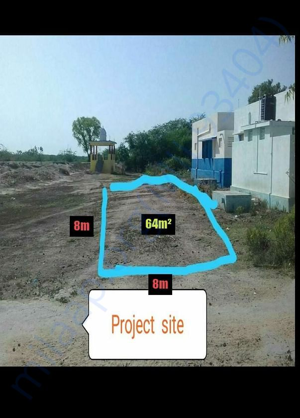 Proposed Project site, total area 64 sq. meter