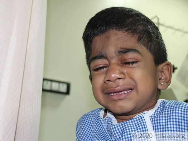 3-year-old Keerthan will die without a bone marrow transplant