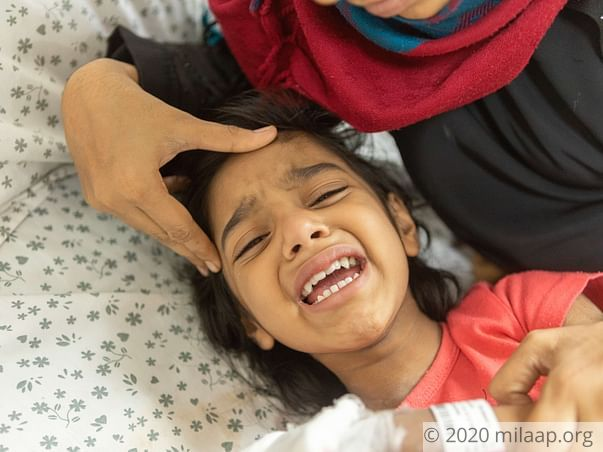 After a terrible fall, 4-year-old Haniya needs our help