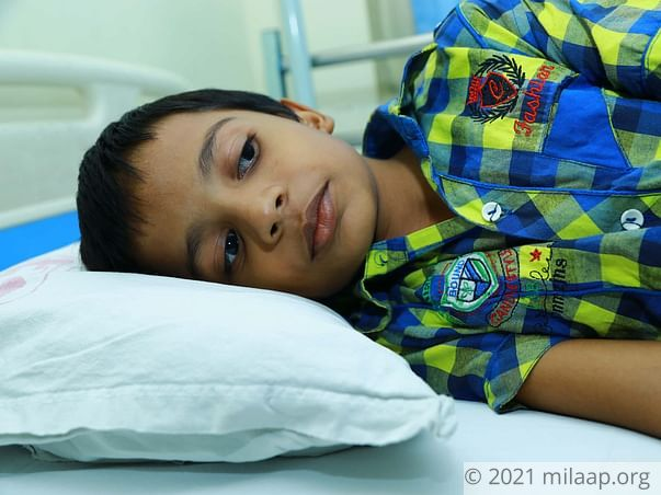 10-year-old's blood disorder can paralyse and kill him without help