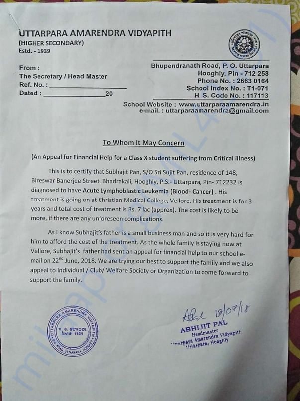 School Appeal Letter