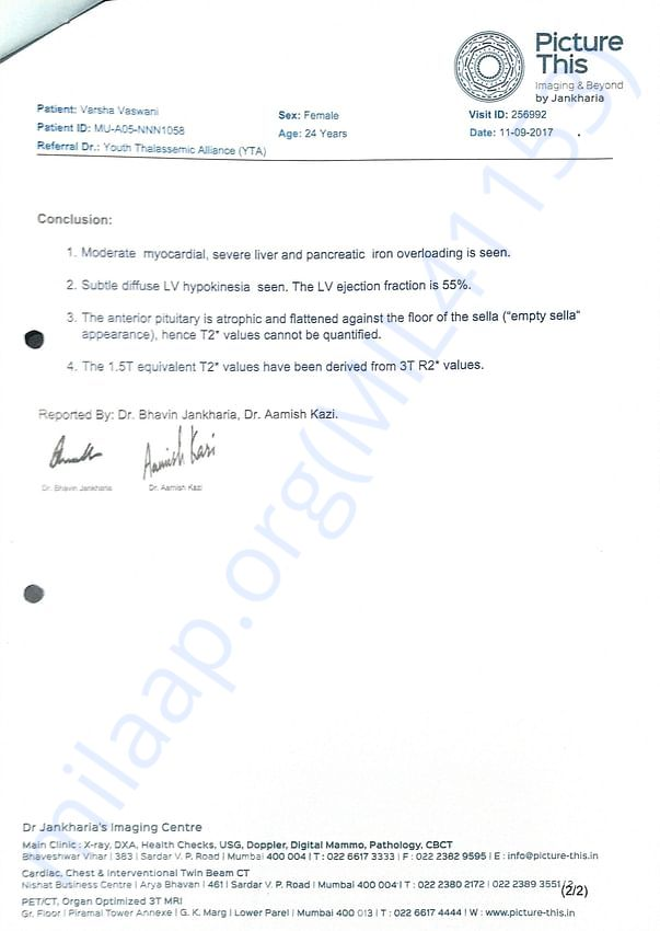 T'2* MRI Report