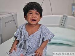 Baby Uzma needs a liver transplant to survive