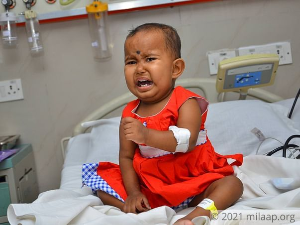 1-year-old Darshika will succumb to cancer without help