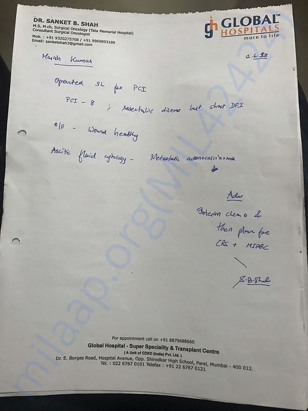 Harish ji documents