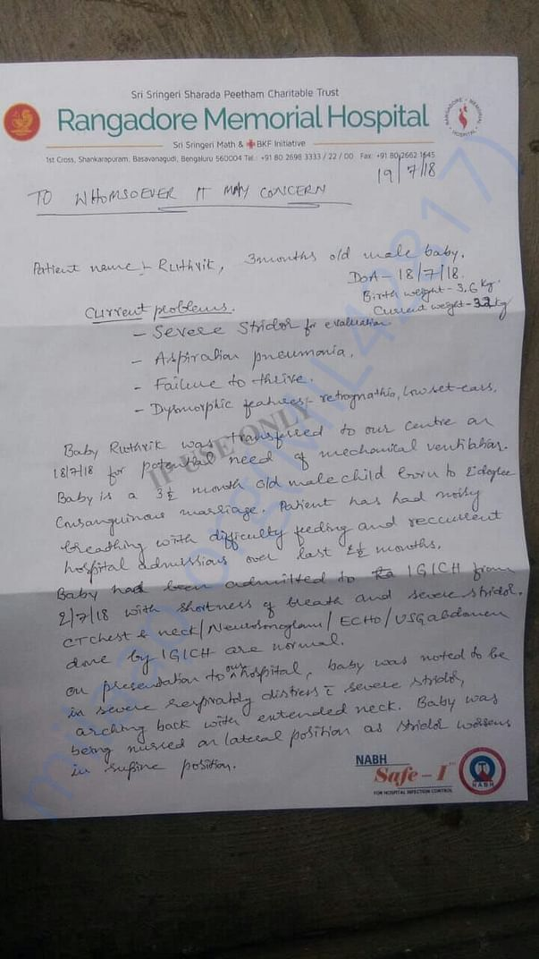 This is the medical report given by doctors.