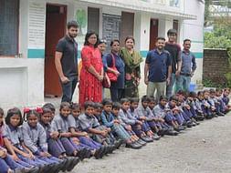 """NAVV SHIKSHA""Providing shoes,bag,story book,sweater etc to students"