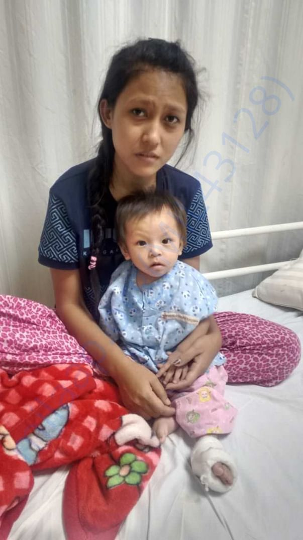 Mother and the kid in hospital!