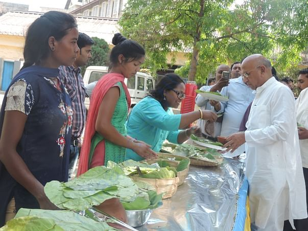At environment day fair, with Shri Saryu Rai, Jharkhand Food Minister