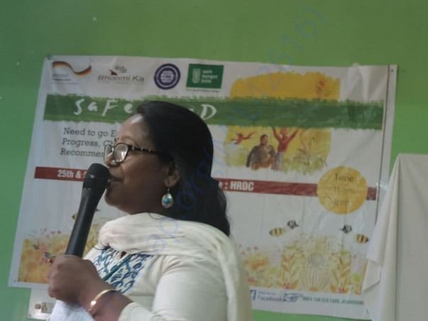 In a conference on Safe food - speaking about importance of local food