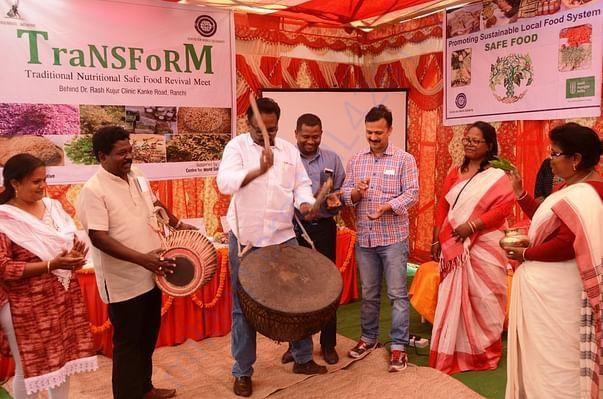 Popularizing indigenous food - with TAC member Shri Ratan Tirkey