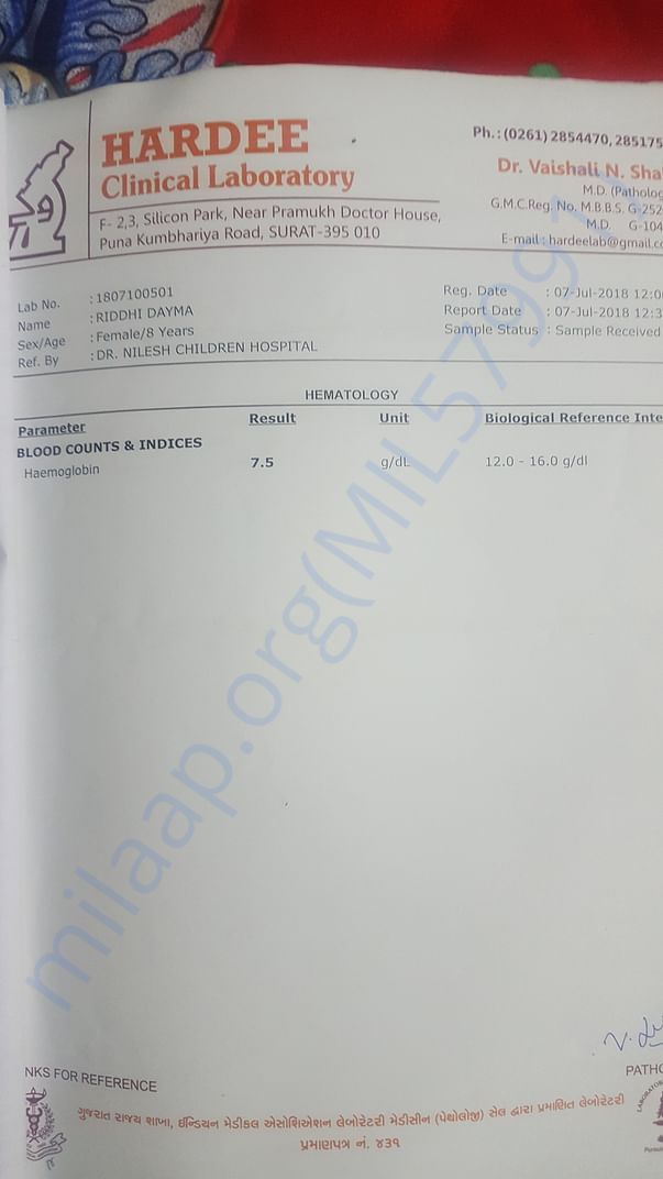 my blood report