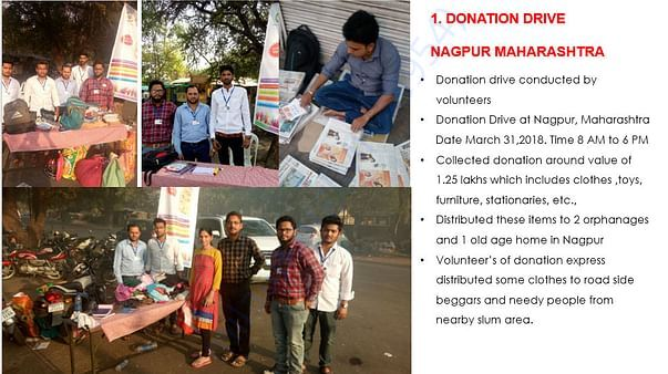 Volunteers working in Summer for Donation Drive