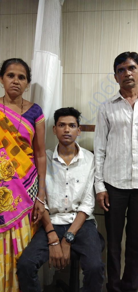 Vipul, his father Ranchodbhai and His Mother, Leelaben