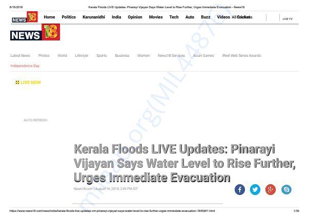 Kerala Floods update