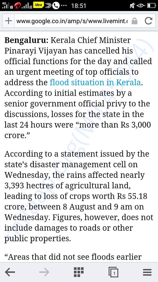 Stats on the damagea in kerala