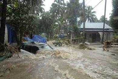 Kerala sinking in the floods