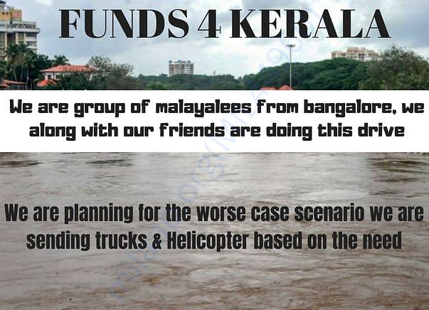 Funds for Kerala Relief Mission