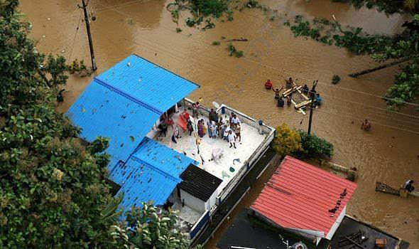 People stranded in Terrace after flood surrounded the house