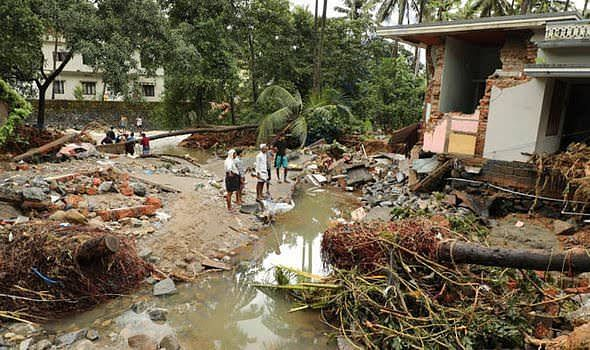 Destruction caused due to floods