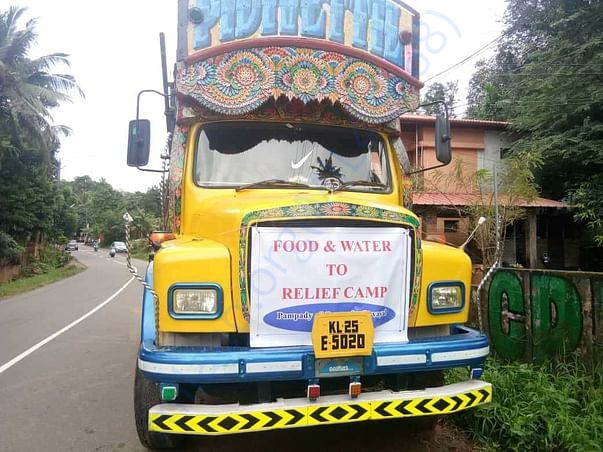 Food & Water to relief camps setup in and around kottayam