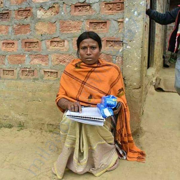 Awareness and sanitary napkin distribution at home