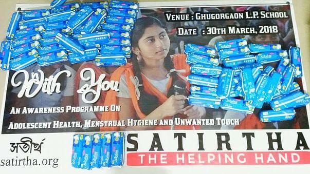 Awareness and sanitary napkin distribution