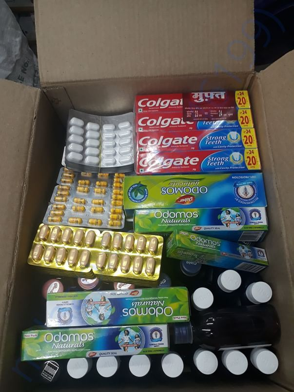 Medicines bought from the Fund & sent to Kodagu