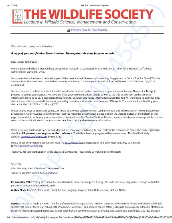 TWS invitation letter