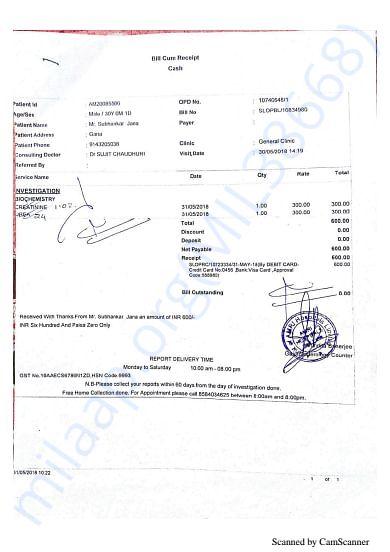 Medical Bills before 1st Chemo