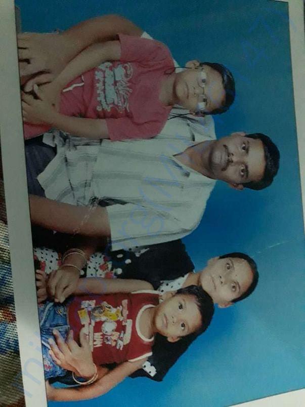 Srinivas with his family