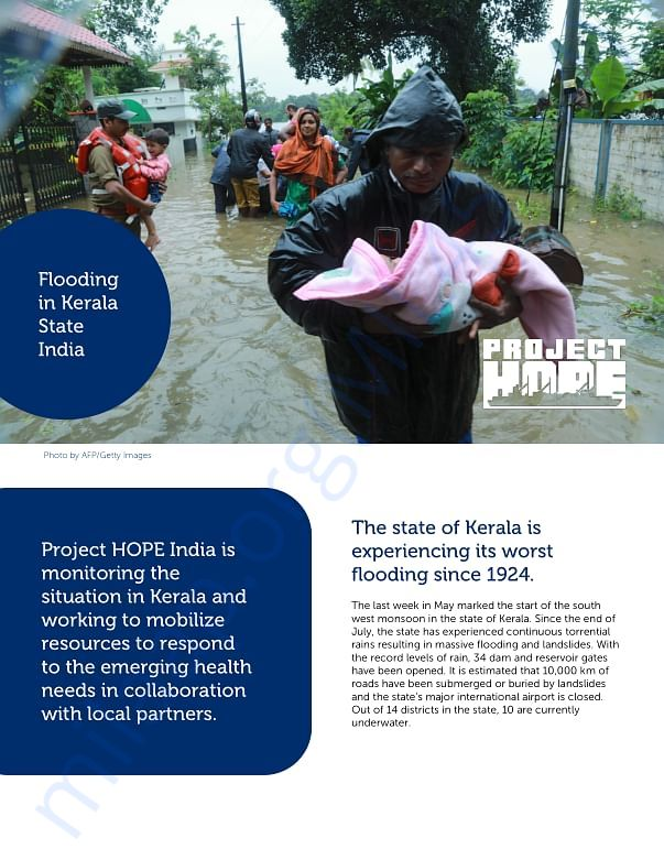 Project HOPE's Approach to help rebuild Kerala