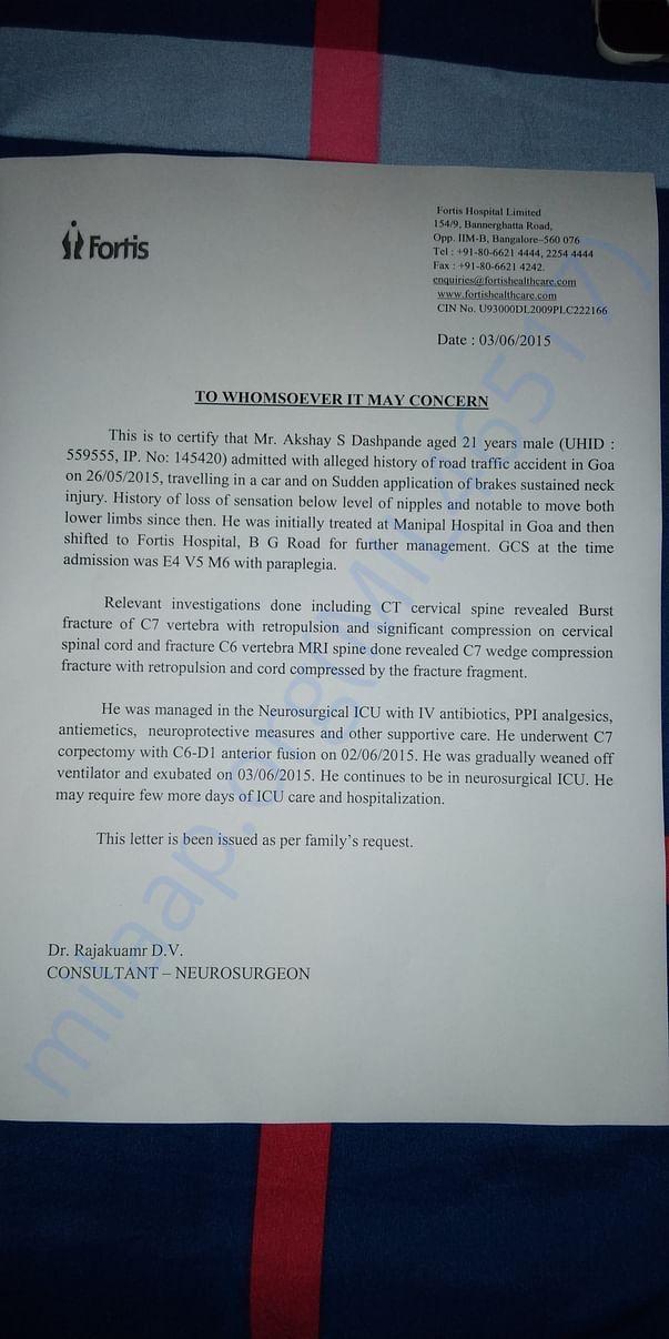 Fortis Certificate