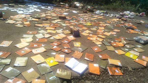 Destroyed school books