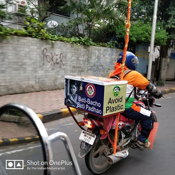 Vikas Shinde on his 100cc Bajaj Platina