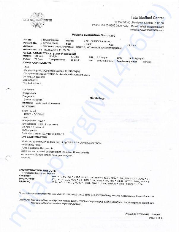 Patient Evaluation Page 1