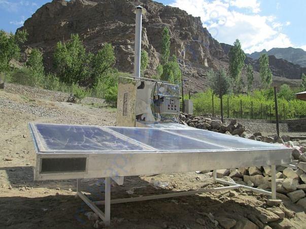 Solar drier at Anji