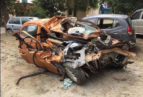 His Damaged Car
