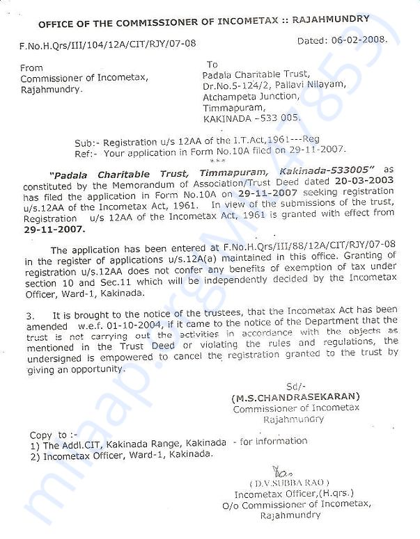 12A Registration under IT Act 1961