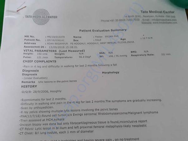 Patient Evaluation Summary