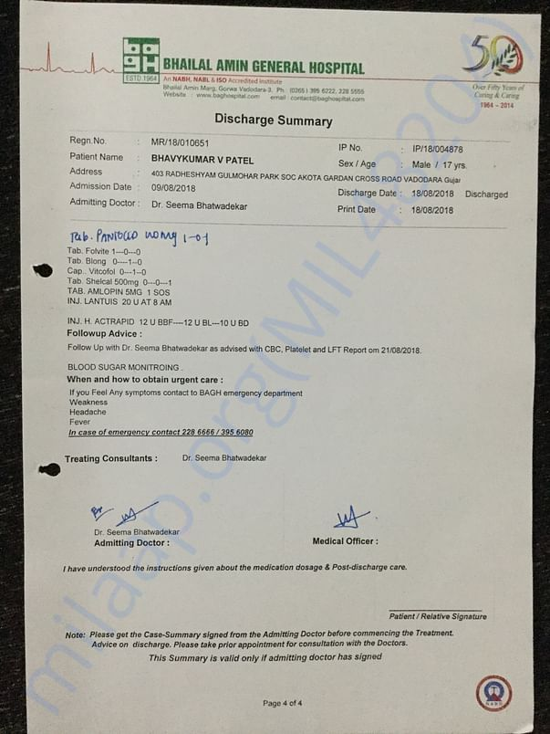 Diagnosis & Discharge Summary 5