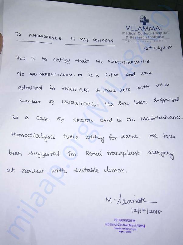 Hospitals Letter
